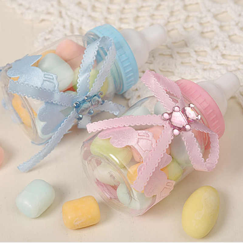 12 Pcs Candy Gift Boxes Wrapping Supplies Baby Shower Gift Bags Feeding Milk Bottle Style Gift Box Birthay Party Favors