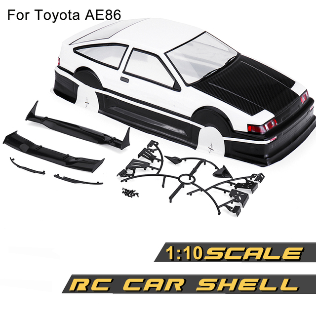 1/10 PVC RC Car Shell Painted Body for 1:10 Racing Car Wheelbase 256mm For Toyota AE86 with Accessories
