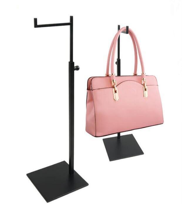 Hot sale adjustable handbag display stand stainess steel Backpack display rack fashion bags wig Purse display holder rack in Storage Holders Racks from Home Garden