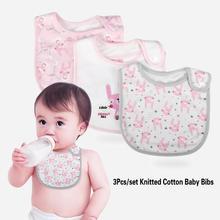 3 шт./компл. модный вязаный хлопковый нагрудник для кормления нагрудник мягкий шарф для кормления слюнявчик для детей