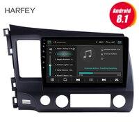 Harfey 2Din 10,1 дюймовый Автомагнитола для 2006 2007 2008 2011 Honda Civic Android 8,1 GPS; Мультимедийный проигрыватель с управлением зеркалами