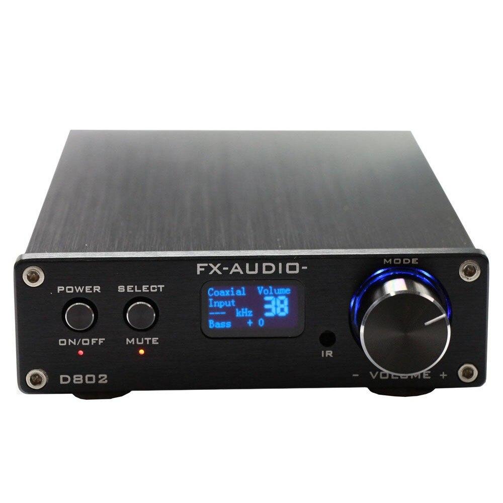 NFJ & FXAUDIO FX Audio D802 80Wx2 192 khz Koaxial/Optisch/USB Klasse D Digital Power Verstärker + fernbedienung