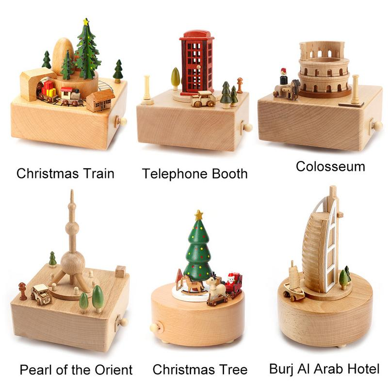 US $19.84 35% OFF|Hand Operated Wooden Music Box Delicate Kids Bedroom  Decoration Music Box For Children Family Friends Christmas Birthday Gift-in  ...