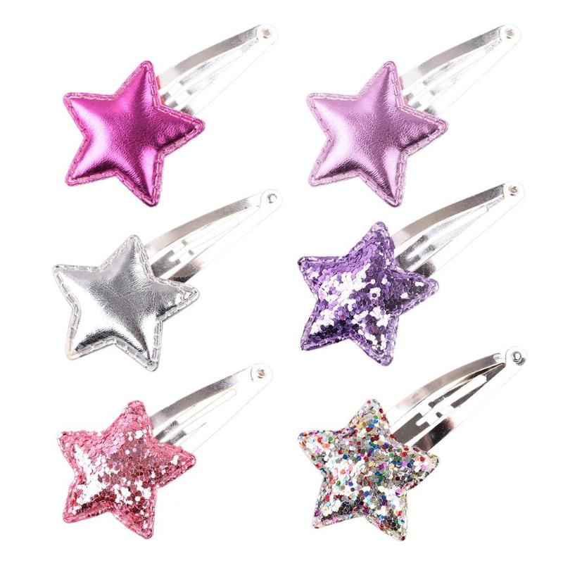 Girls Colorful Metal Snap Hair Clips With Little Silver Mini Snap Hair Head Clips Pins Sleepies Hair Slides School