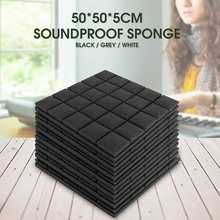 5 pcs 500x500x50mm Soundproof Foam Acoustic Sound Stop Absorption Sponge Drum Room Accessories Wedge Tiles Polyurethane Foam