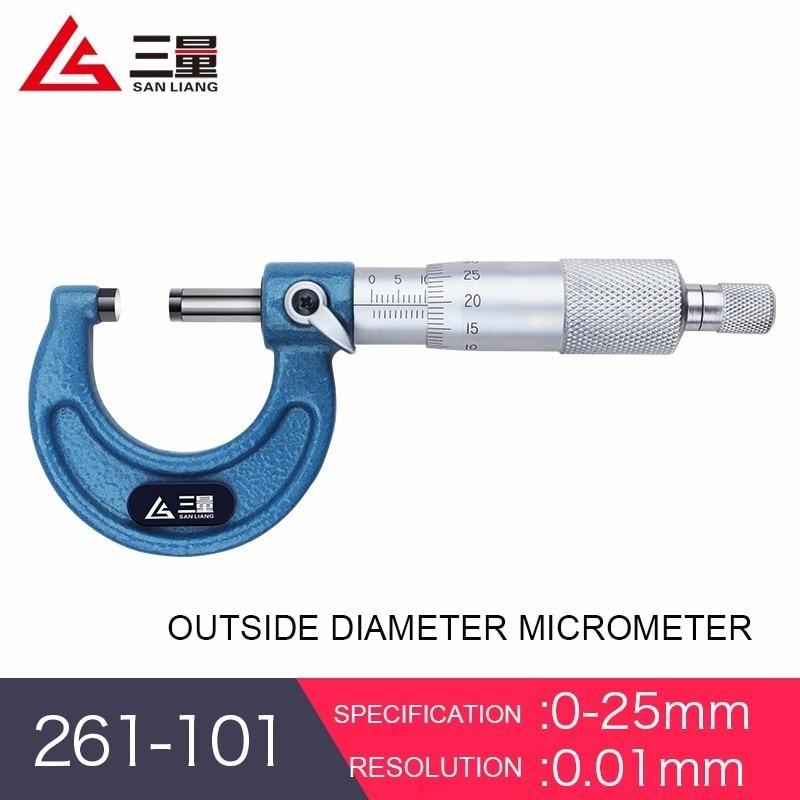 Outside diameter micrometer 0 25 50mm high precision 0.001 thickness gauge spiral micrometer instrument digital display