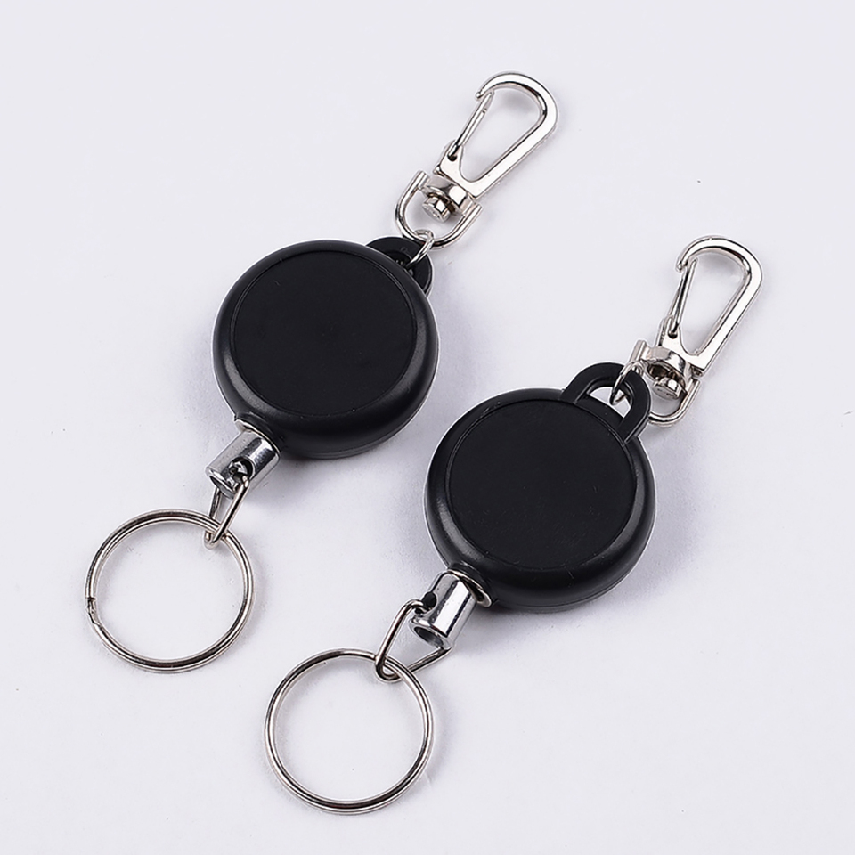 FASHION FLEXIBLE KEYCHAIN KEY RING WIRE ROPE CHAIN STRETCHED BAG WALLET DECOR NI
