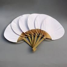 Pai pai-20 piezas de bambú con mango blanco puro, pintura de caligrafía en blanco