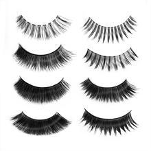 Natural Curing Makeup False Dense Long Eyelashes Mink Black Fake Eyelashes 3D Handmade Long Thick Cross Eye Lashes Extension недорого