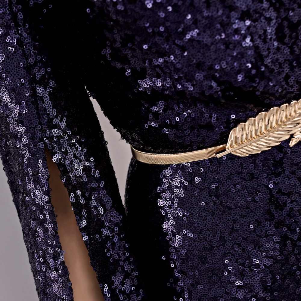 LPTUTTI Paillettes Con Scollo A V Nuovo Per Le Donne Elegante Data Cerimonia Del Partito di Promenade Convenzionale Gala Vestito Da Sera Lungo Lusso A01