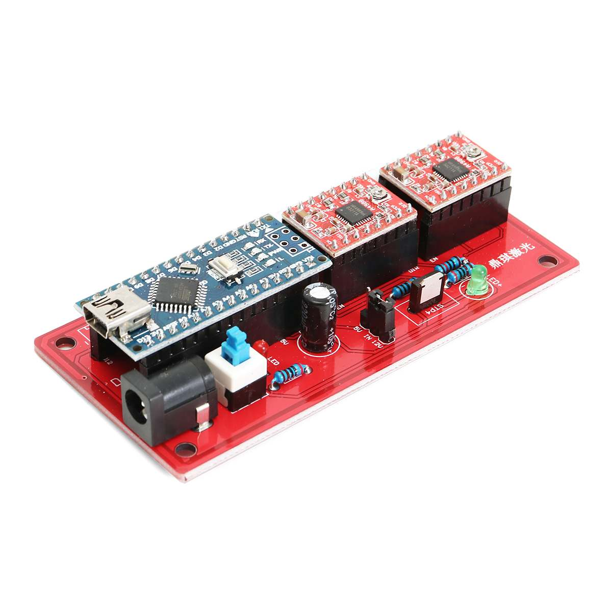 USB Control Board 2 Axis DIY CNC Laser Engraving Machine Controller Panel Support Laser Module Output Indicator