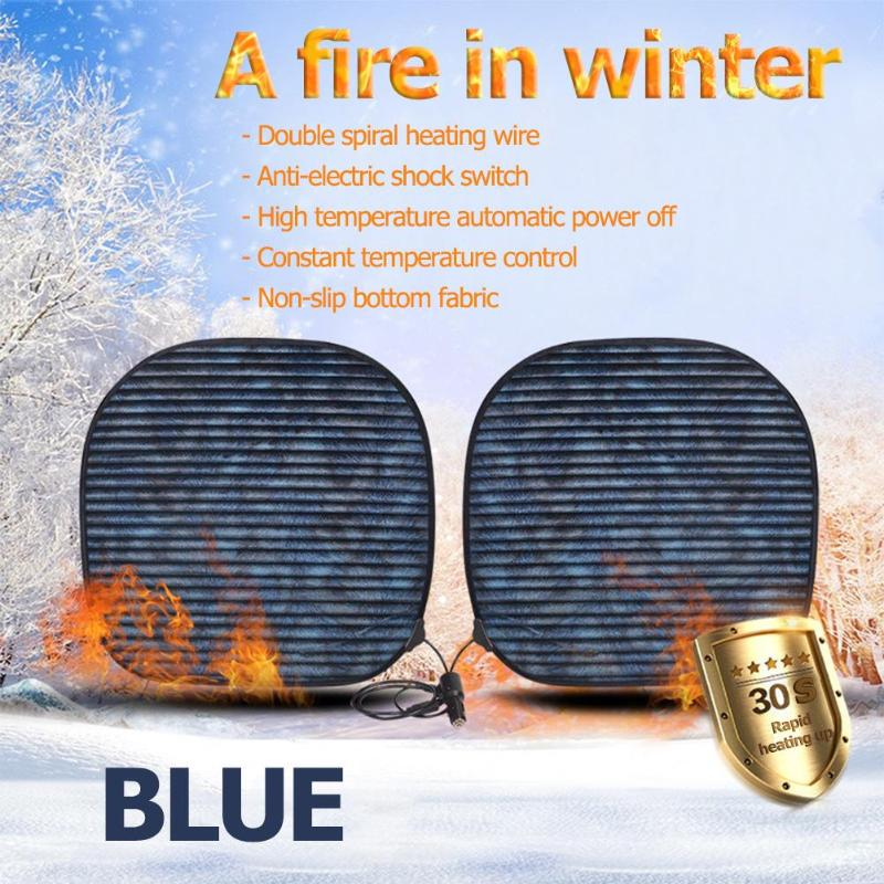 2pcs Winter Car Electric Heated Cushions Cover Seat 12V Auto Seat Thermal Heating Pad Covers Heater Warmer For Car Home 2pcs Winter Car Electric Heated Cushions Cover Seat 12V Auto Seat Thermal Heating Pad Covers Heater Warmer For Car Home