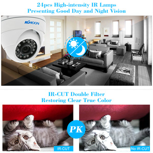 Image 3 - KKmoon 1080 1080P AHD カメラ 2MP 24 IR ランプナイトビジョン IR CUT 防水屋外 CCTV セキュリティ監視カメラ