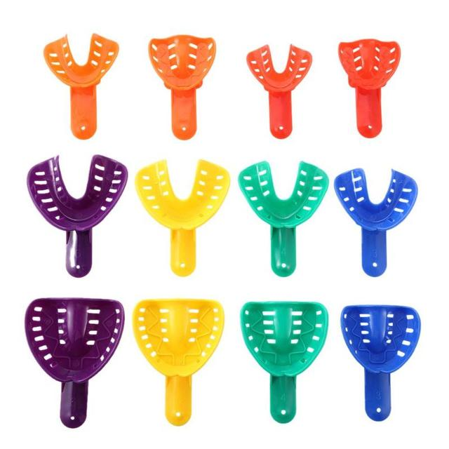 12 unids/set dientes ortodoncia Dental plástico dientes bandeja soporte diente