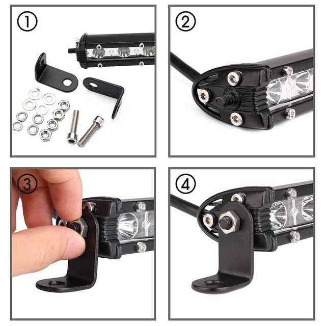 "Auxtings Slim LED Light Bar Single Row 7″ 13″ 20″ 25″ 32″ 38"" inch 90W 120W 150W 180W For SUV 4X4 Off Road LED Work Light Lamp"