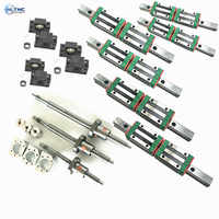 HGR20-1500/2500/2500 Square Linear guide  + 3 xSFU2005/2004-1550/2550/2550 Ballscrew sets + BK BF12 +3 jaw Flexible Coupling