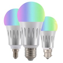 18W 15W 12W 9W 6W 3W 9W RGBW LED WIFI cabeza redonda inteligente bombilla para Amazon Alexa Google Home 85-265V lámpara led e27(China)