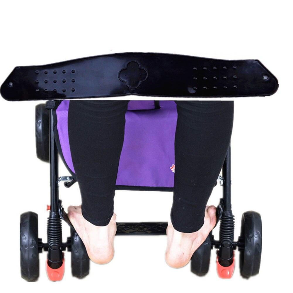 Педаль подставка для ног коляска детская подставка для ног коляска противоскользящая черная Высококачественная пластиковая детская коляска