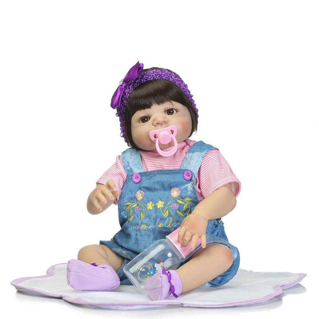 Reborn силиконовые средства ухода для век кукла синий живой реборн мягкая игрушечные лошадки открытым новорожденн