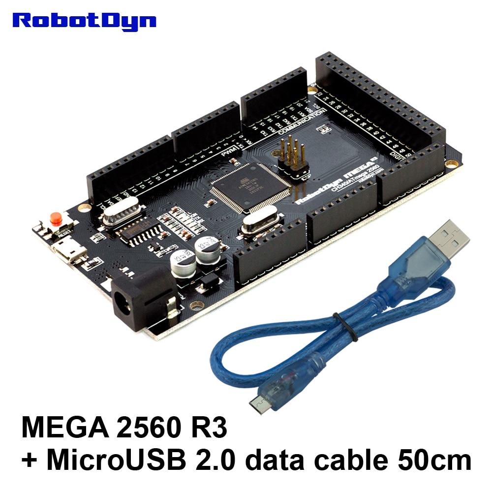 Mega2560 R3 CH340G/ATmega2560-16AU + USB 2.0 data CABLE (50cm). Compatible for Arduino Mega 2560. MicroUSB. Bootloader.Mega2560 R3 CH340G/ATmega2560-16AU + USB 2.0 data CABLE (50cm). Compatible for Arduino Mega 2560. MicroUSB. Bootloader.
