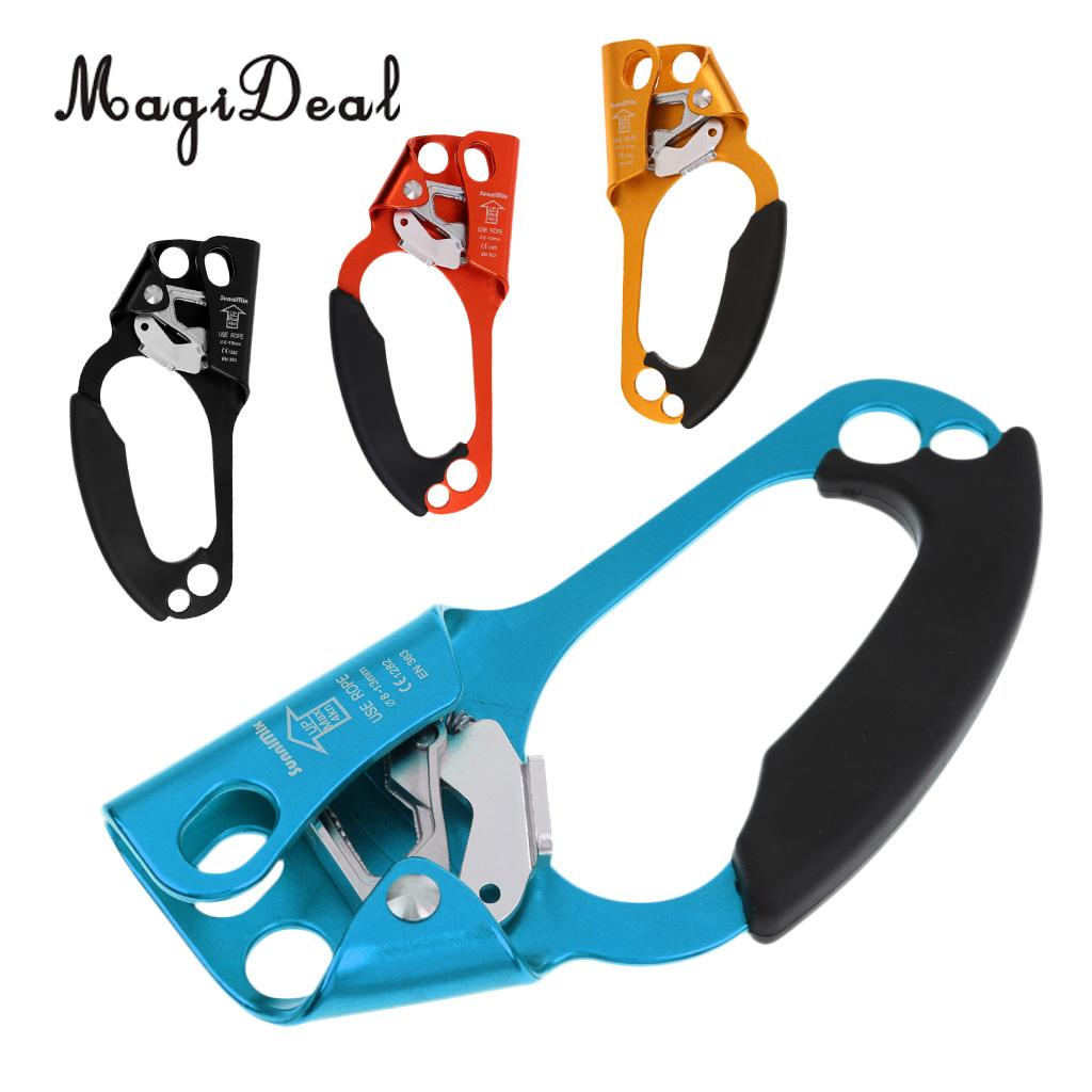 20x9cm 4KN Rescue Outdoor Climbing Gold Right Hand Ascender For 8-13mm Rope Caving Engineering Accessories