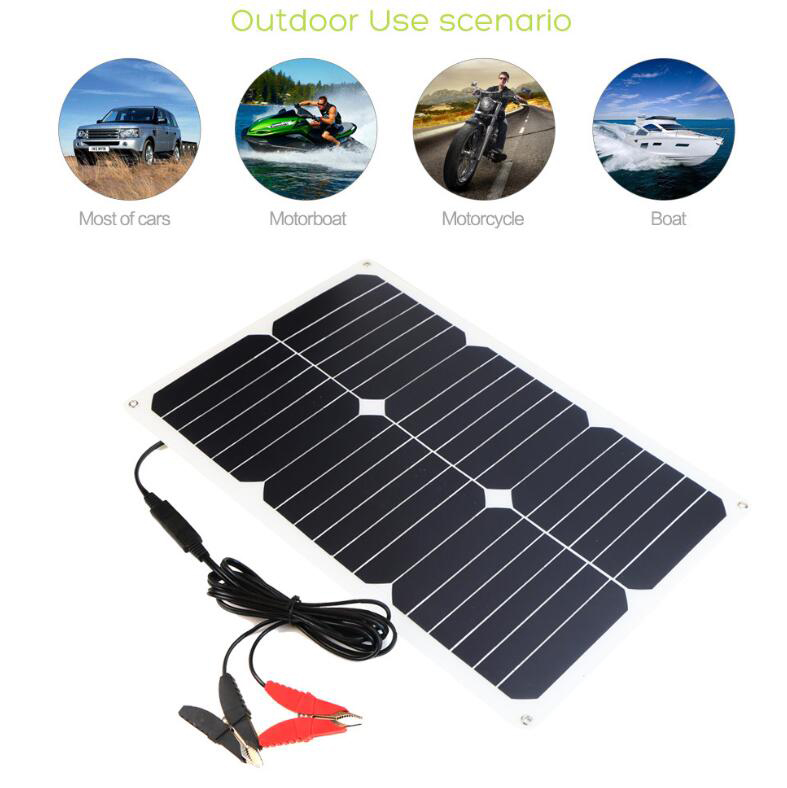 ALLPOWERS 12 V 18 W imperméable à l'eau Flexible batterie solaire Portable chargeur de voiture pour batterie de voiture Automobile moto bateau en plein air