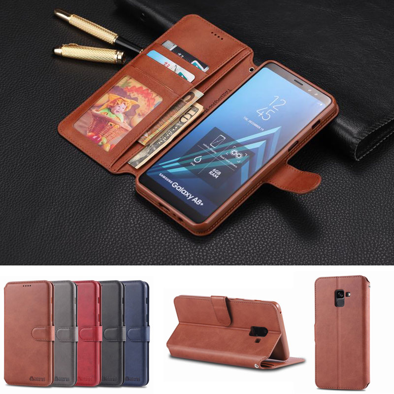Flip Book Case For Samsung A8 Cover A8 Plus 2018 Leather Wallet Bags Luxury 5 Slots Housing For Coque Samsung A8 Plus Phone CaseFlip Book Case For Samsung A8 Cover A8 Plus 2018 Leather Wallet Bags Luxury 5 Slots Housing For Coque Samsung A8 Plus Phone Case