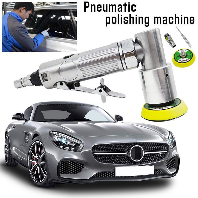 2 zoll Gerade Herz High-speed Mini Pneumatische Polieren Maschine mit Push-Schalter und Schleif Pad für Polieren