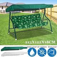 213x122x18 см УФ-стойкие садовые качели стул оттенок покрытия верхняя крышка паруса водонепроницаемый пылезащитный открытый двор гамак палатка...
