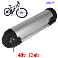 US EU No Tax Water Bottler 48V 13AH Lithium ion Bottle e bike battery fit Bafang/8fun BBS02 48V 750W1000W Motor with 2A Charger