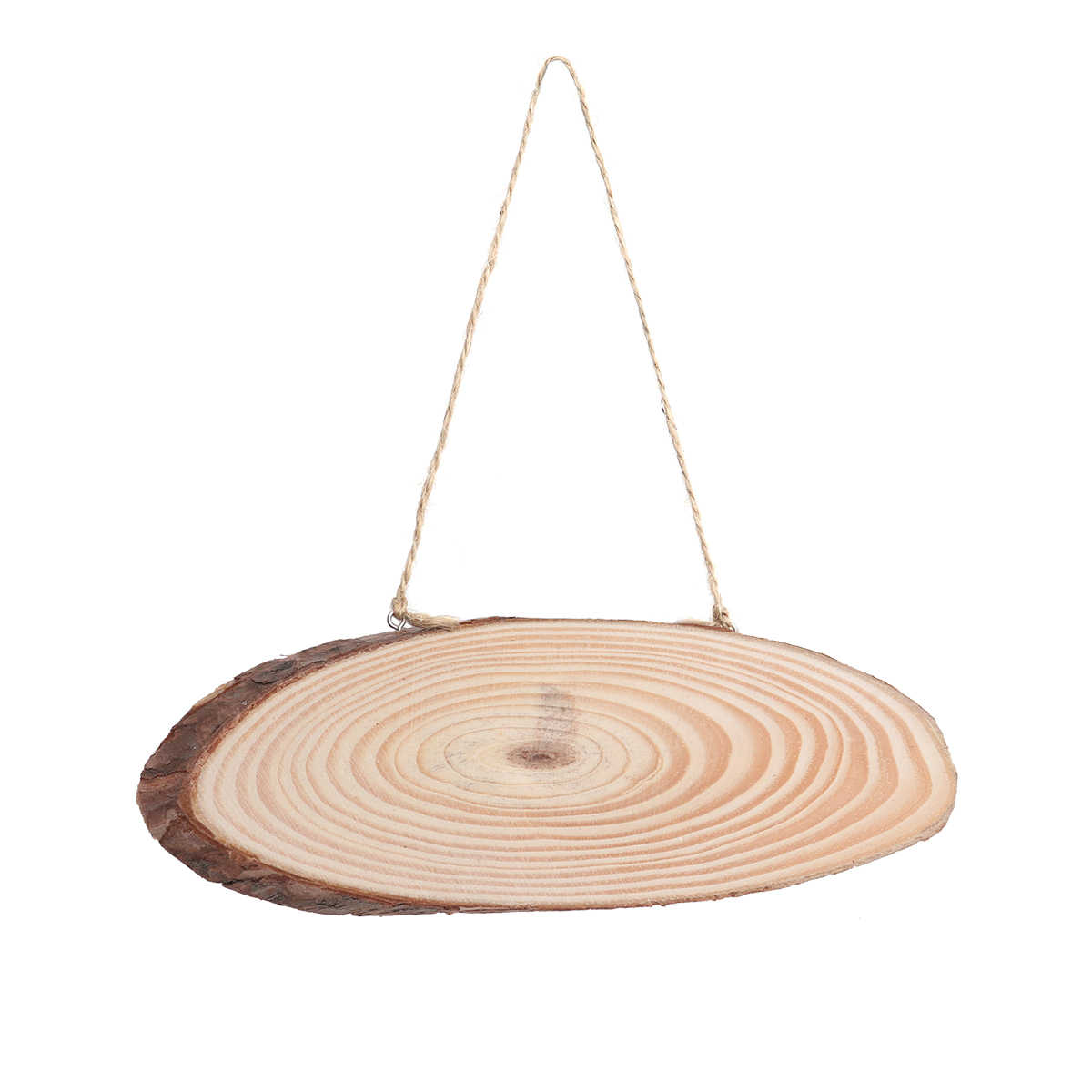 Diy Wood Crafts 22x7cm Oval Blank Wooden Disc Tree Log Slice Plaques With 2 Hooks And Rope For Diy Decoration Crafts Projects