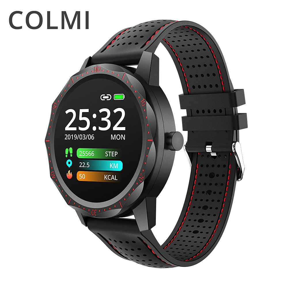 COLMI SKY1 Sports Smartwatch Heart Rate IP68 Waterproof Step Tracker Remote Music Fitness Tracker Watch Men For IOS & Android|Smart Watches| |  - AliExpress