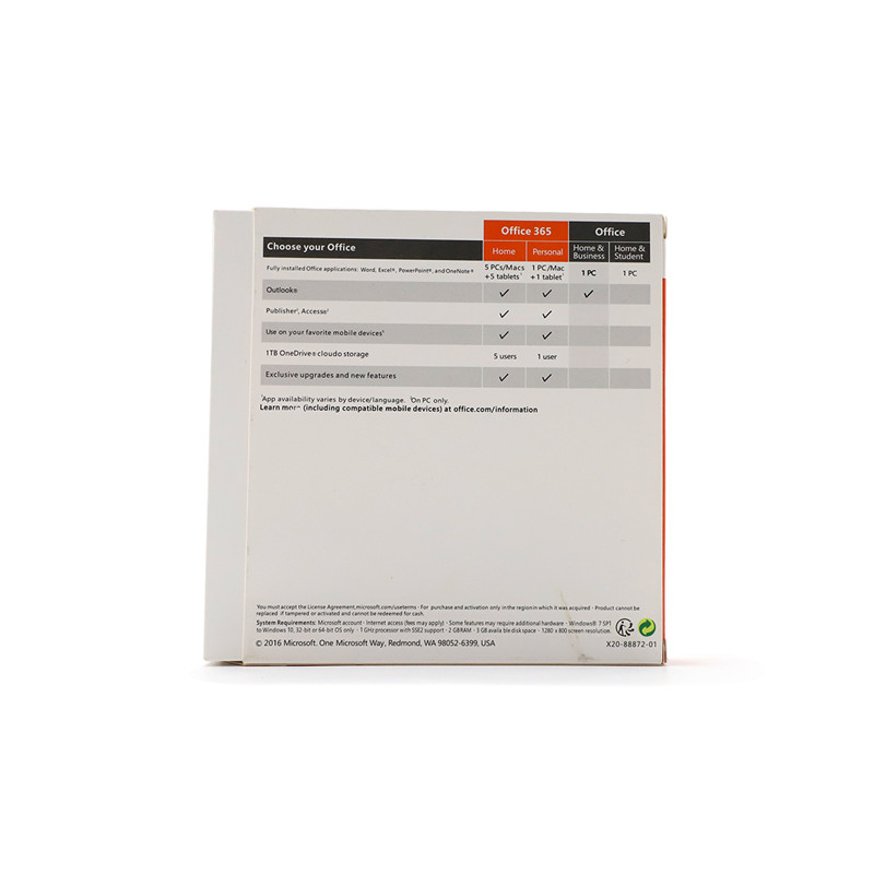 Image 5 - Microsoft Office Home and Business 2016 For Windows License Product key Code Retail Boxed inside DVD 32Bit/64Bit-in Office Software from Computer & Office