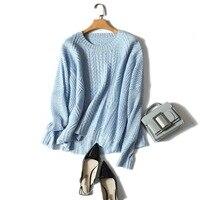 Shuchan 30% кашемир 70% шерсть Осенняя зимняя вязаная одежда пуловер женский свитер выдолбленный корейский женский свитер вязание
