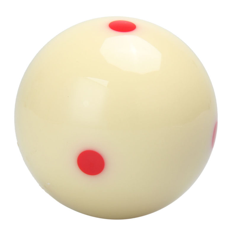 5.72 Cm  Red 6 Dot-Spot Measly White Pool-Billiard Practice Training Cue Ball  Billiard Pool Ball Replacement