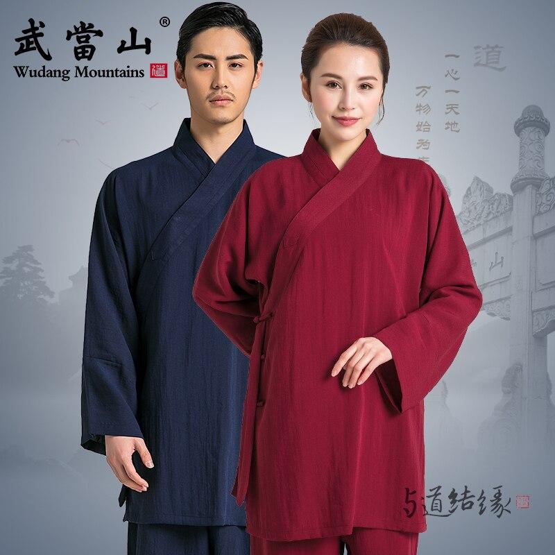 Oblique Collar Tai Chi Uniform  Traditional Taiji Clothing  Kung Fu Clothing Unisex Wu Shu Clothing Variety Colors