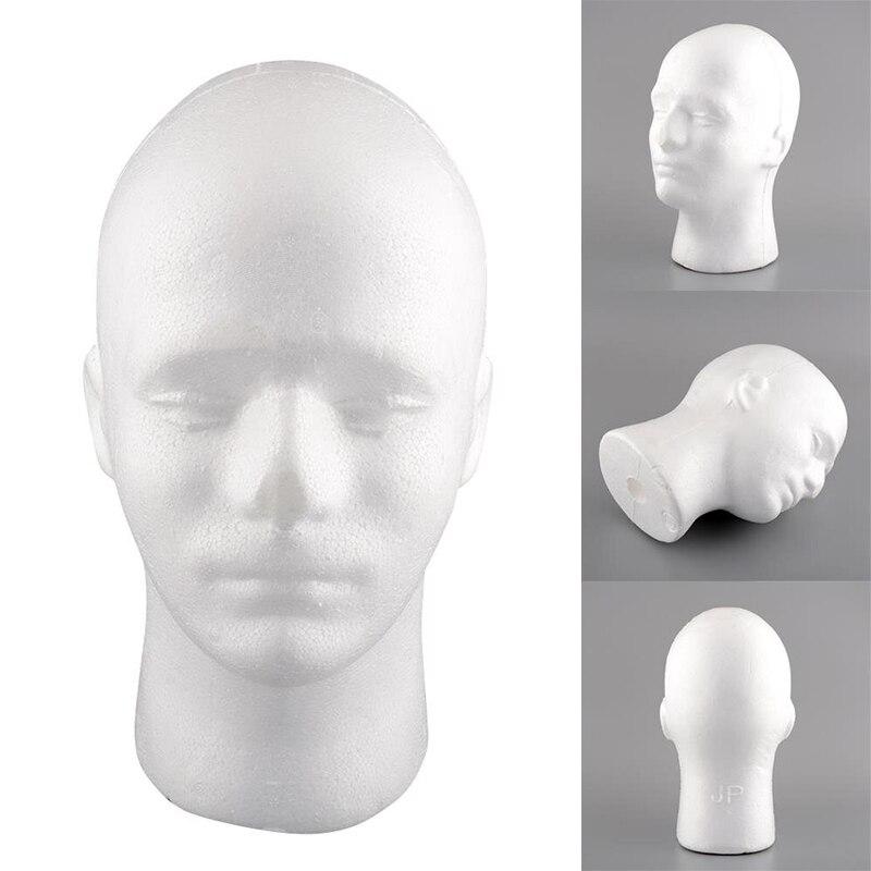 Мужской пенополистирола Пена манекен головы вешалка-манекен парик шляпа 54 см