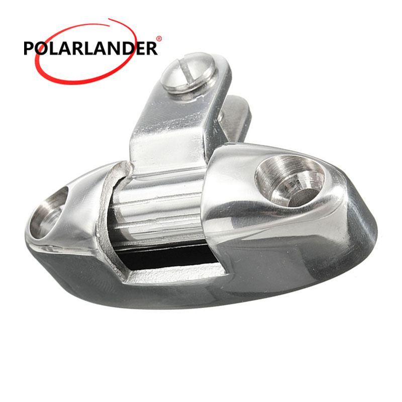 Hardware Mountain Type Fitting Fit For Marine <font><b>Boat</b></font> Yacht With Rubber Pad Stainless Steel 316 Silver Swivel Deck Hinge <font><b>Bimini</b></font> <font><b>Top</b></font> image