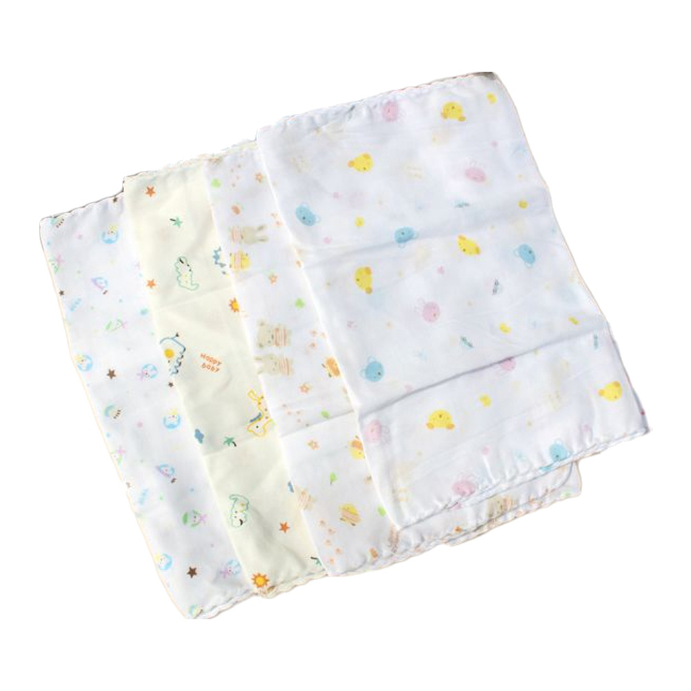 1 Pc 80x31cm Infant Feeding Towel Newborn Baby Double Gauze Handkerchief Square Towel Face Towel For Baby