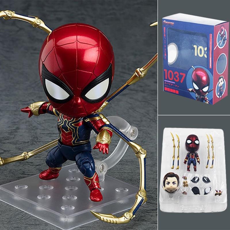 gztzmy-10cm-font-b-marvel-b-font-nendoroid-1037-the-avengers-spiderman-pvc-action-figures-toys-iron-spider-super-hero-collectible-model-doll