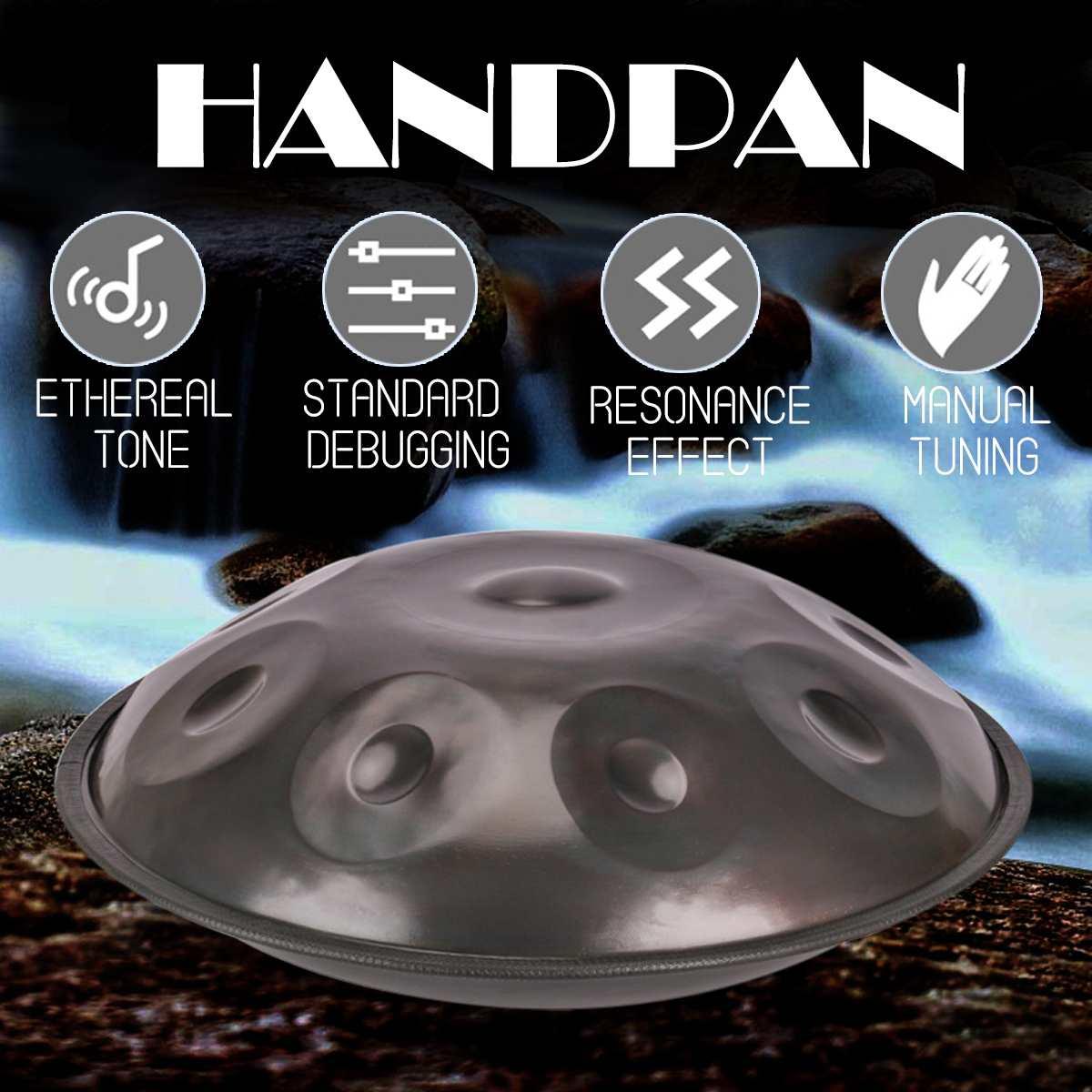 Handmade Handpan Instrumento Antigo F major D Menor 9 Notas Mão Música Tambor de Mão pan Tambores de Percussão Instrumentos Musicais 432 hz