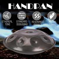 Handmade Handpan Instrumento Antique F major D Minor Hand Drum 9 Notes Music Hand pan Drums Percussion Musical Instruments 432hz