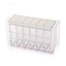 Transparent Spice Jar Colorful Lid Seasoning Box 6Pcs/Set Kitchen Tools Salt Condiment Cruet Storage Containers