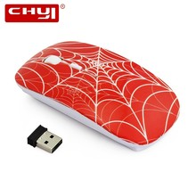 CHYI Wireless Computer Ultra Thin Gaming Mouse 2.4G Optical USB Slim Mause Creative Cool Spider Web Mini Game Mice For PC Laptop binful 2 4g wireless mouse usb receiver ultra thin slim mini wireless optical mouse mice for laptop pc optical gaming mouse