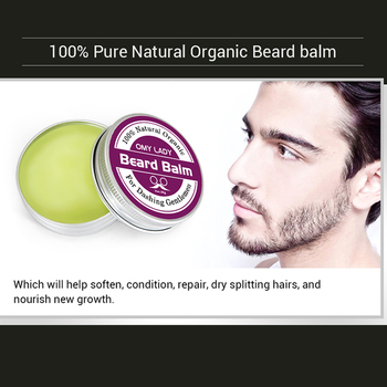 Omylady Natural Beard Balm Beard Conditioner Professional Beard Growth Organic Mustache Wax For Beard Smooth Styling 6