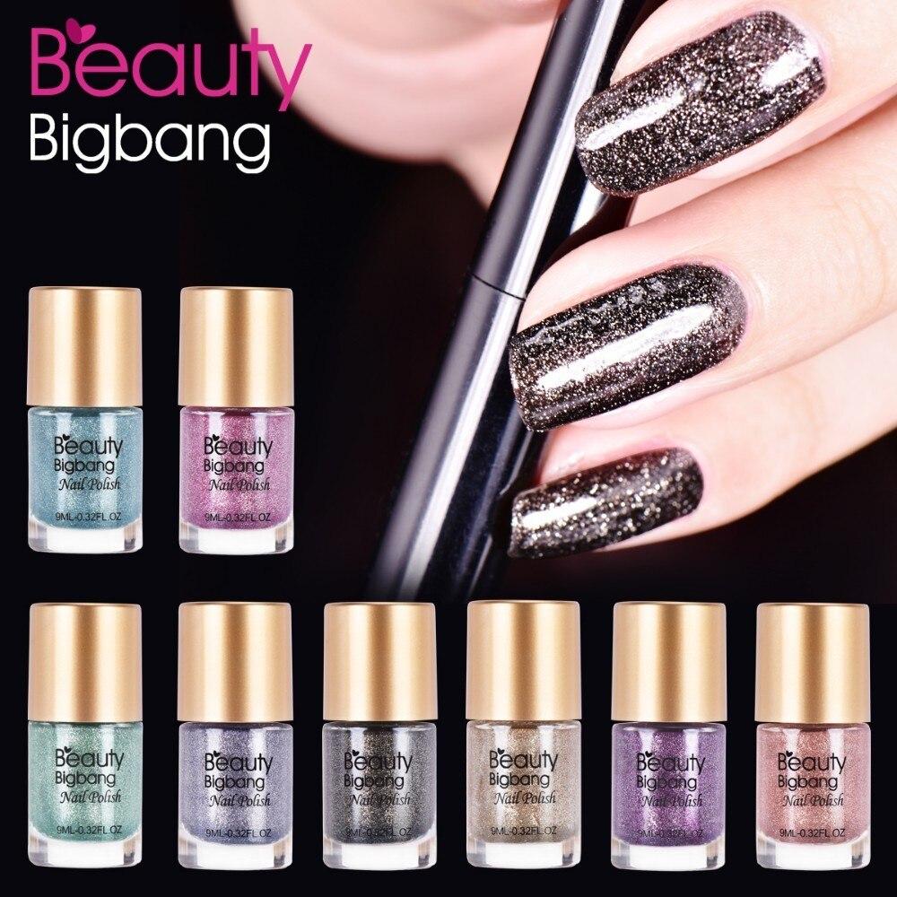 Realistisch Beautybigbang 9 Ml Kristall Perle Diamanten Blau Nagellack Silber Shiny Glitter Pulver Nagel Stanzen Nagellack Für Nagel Kunst Nagellack Nails Art & Werkzeuge