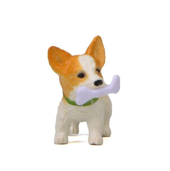 1 Pc Cute Bones Corgi Dog Action Figure Toy Cartoon Animal Model PVC Ornament Doll Toy-2
