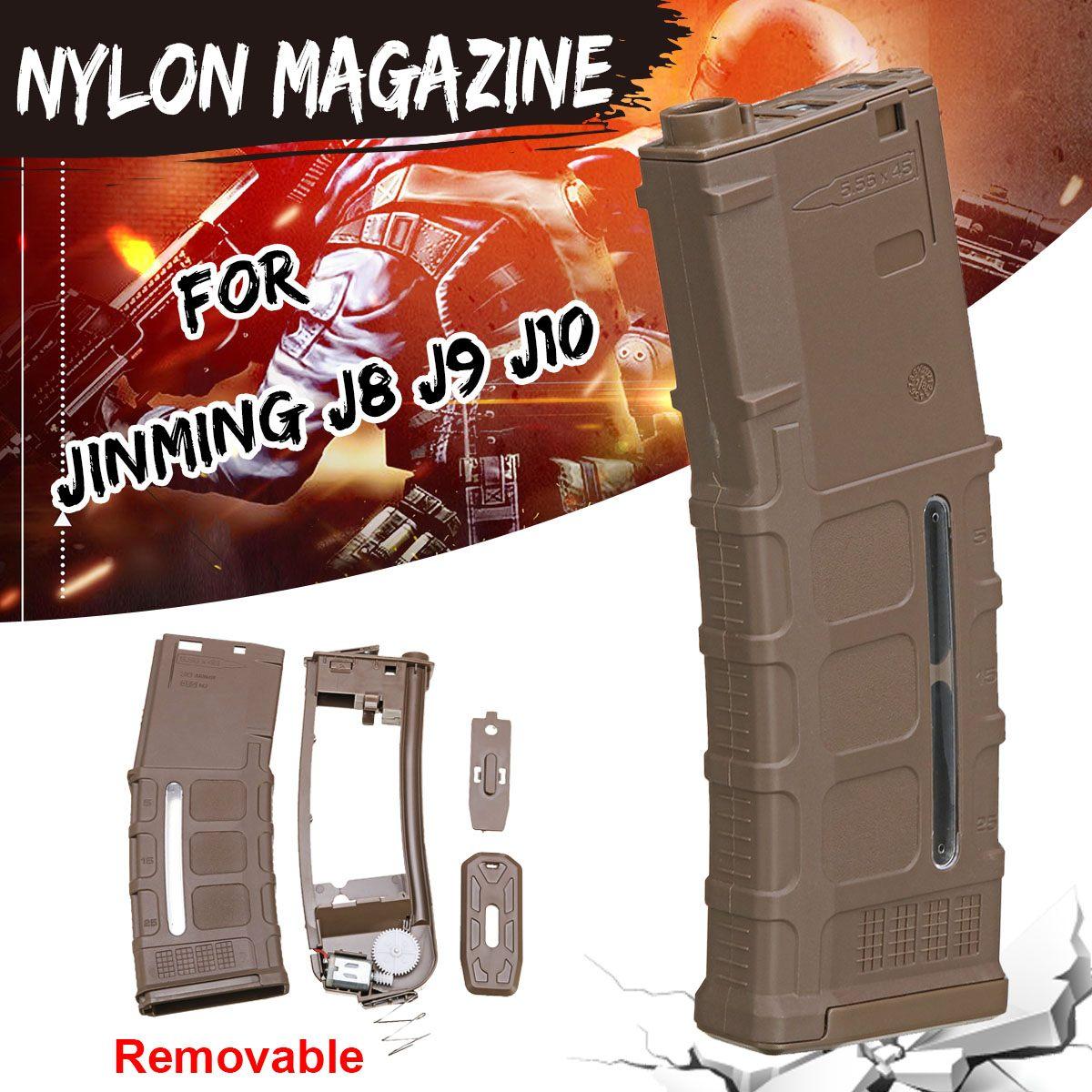 Nylon Gel Magazine For Jinming J8 J9 J10 Gel Ball Blasters Water Games Toy Guns Replacement Accessories