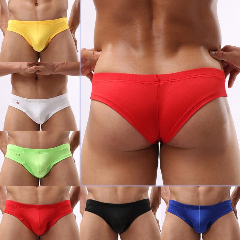 Bulge Low Waist U Convex Pouch G String Men Thongs Briefs Underwear Man's