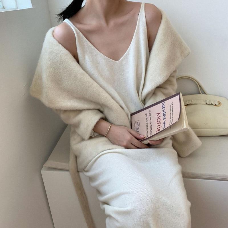 2018 Mode white Patchwork Taille Lâche Hiver Pink Laine Nouvelle En Ac249 Solide Colour ewq Turn down Col Manteau Réglable creamy Vintage Manches À Longues SqtEFwnOgx